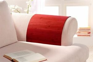 Lehnenschoner aus Bambus Sofatablett Ablage Armlehne Sofa Farbe lava 40x60 cm