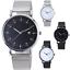 thumbnail 1 - MESH-Quartz-Wrist-WATCH-Business-Casual-Dress-Mens-Womens-Gift-Black-Silver