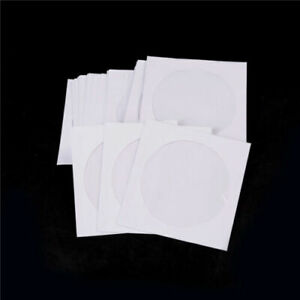 Lots-100-Paper-CD-DVD-Flap-Sleeves-Case-Cover-Envelopes-5inch