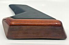 Black Leatherette Phone Holder Fitment Zebrano Color For Mercedes W124 C124 E500