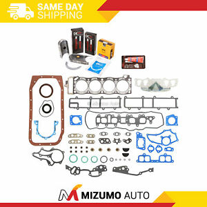 Engine Full Gasket Set Bearings Rings Head Bolts Fits 85-95 Toyota 2.4L 22R 22RE