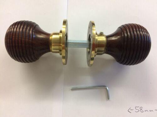 Vintage Beehive door handle,REEDED rosewood Antique Beehive DOOR Knob /& fittings