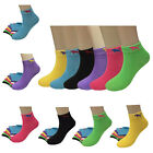 New Lot 6-12 Pairs Tiger Candy Color Fashion Casual Womens Socks Girls Size 9-11