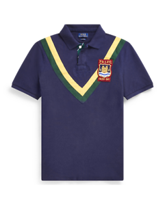 436736af5 Polo Ralph Lauren Classic Fit Mesh Polo Shirt- Cruise Navy Multi ...