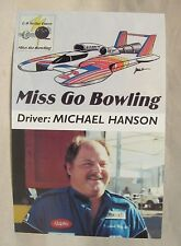 MISS GO BOWLING 1992 picture card promo print photo hydroplane boat racing