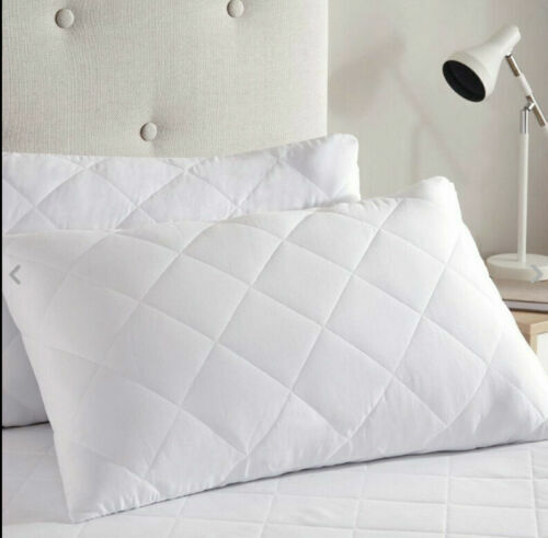 Pillows Memory Foam Firm Support Large Quilted Pillow Bounce Back OR Duvet Quilt