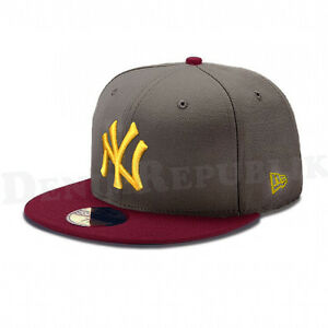 New Era 5950 NEW YORK YANKEES MLB Baseball Cap New Era Fitted Hat ... aa06048ce17
