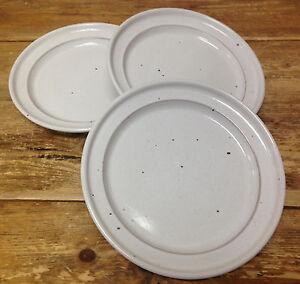 Image is loading Nielstone-3-Dinner-Plates-White-Dansk-Japan-Stoneware- & Nielstone 3 Dinner Plates White Dansk Japan Stoneware 19180 Oatmeal ...