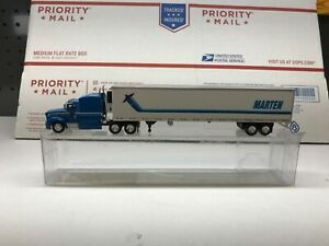 HO-Scale-1-87-Peterbilt-386-With-53-Reefer-Van-Marten-Transport-New