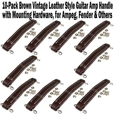 Vintage Style Stitched GUITAR AMPLIFIER COMBO Leather effect HANDLE in 6 colours