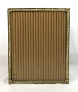 Vintage-Mid-Century-Brass-Mother-of-Pearl-Class-of-039-65-Picture-Frame-Fits-10x8