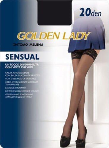 5 PAIA AUTOREGGENTE GOLDEN LADY SENSUAL 20 DENARI TAGLIA 3//4 COLORE LONDRA