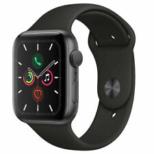 Apple Watch Series 5 44mm Gray Aluminium Case with Black Sport Band - GPS Only