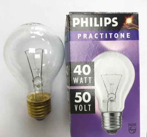 PHILIPS 40 W 48-50 V ES//E27 Clair Basse Tension Gls-Pack de deux