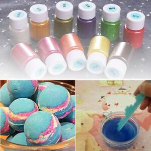 Bomba-de-bano-14-Colores-Perla-Polvo-Coloracion-Jabon-Slime-Para-Colorear-Mica-Maquillaje-Conjunto