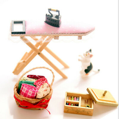 1:12 Dollhouse miniature iron with ironing board set classic furniture toys /_U