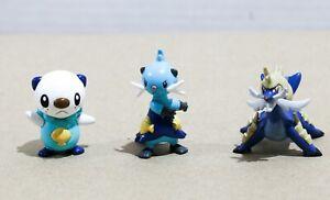 """Pokemon TOMY Gen 5 - 1 to 2"""" Figure / Toy Lot (3) - Oshawott + Dewott + Samurott"""