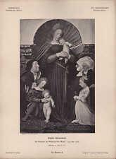 DARMSTADT, Lithografie, 1526: XVI. Jh Dt Schule Hans Hohlbein Die Madonna des Bü