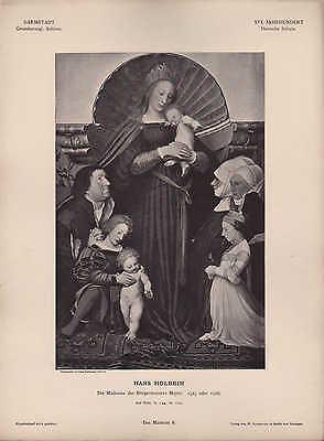 Offizielle Website Darmstadt, Lithografie, 1526: Xvi. Jh Dt Schule Hans Hohlbein Die Madonna Des Bü Herausragende Eigenschaften