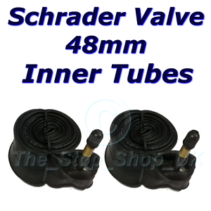 PAIR Bike Cycle Inner Tubes 26 x 2.10 LONG 48mm Schrader Auto VALVES Car