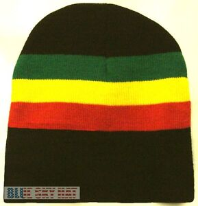 ee84d8bbd59 NEW RASTA JAMAICA JAMAICAN REGGAE FLAG COLOR BEANIE SKI KNIT WINTER ...