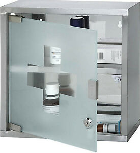 Wall Mounted Locking Medicine Medical Cabinet Lockable