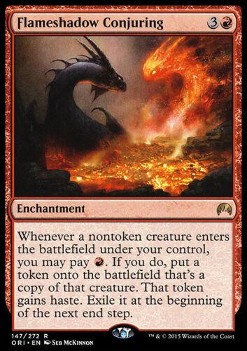 Enchantment Rare FLAMESHADOW CONJURING NM mtg Origins Red
