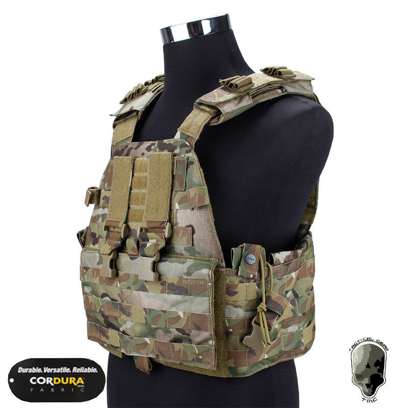 TMC Tactical EG ASSALTO Piastra Portante Giubbotto Airsoft Molle Combat Gear Paintball