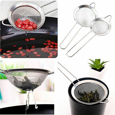 Stainless Steel Tea Strainer Wire Mesh Kitchen Strainer for Traditional Tea etc
