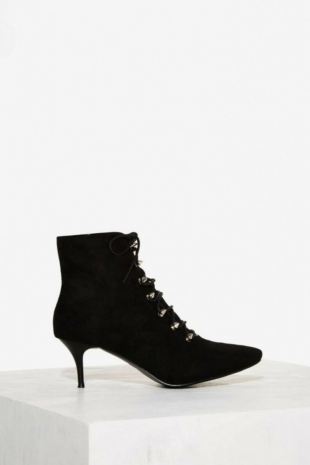 Negozio 2018 NEW NASTY GAL nero KITTEN OUT OUT OUT OF TEN HEELS ANKLE stivali SZ 6.5  perfezionare