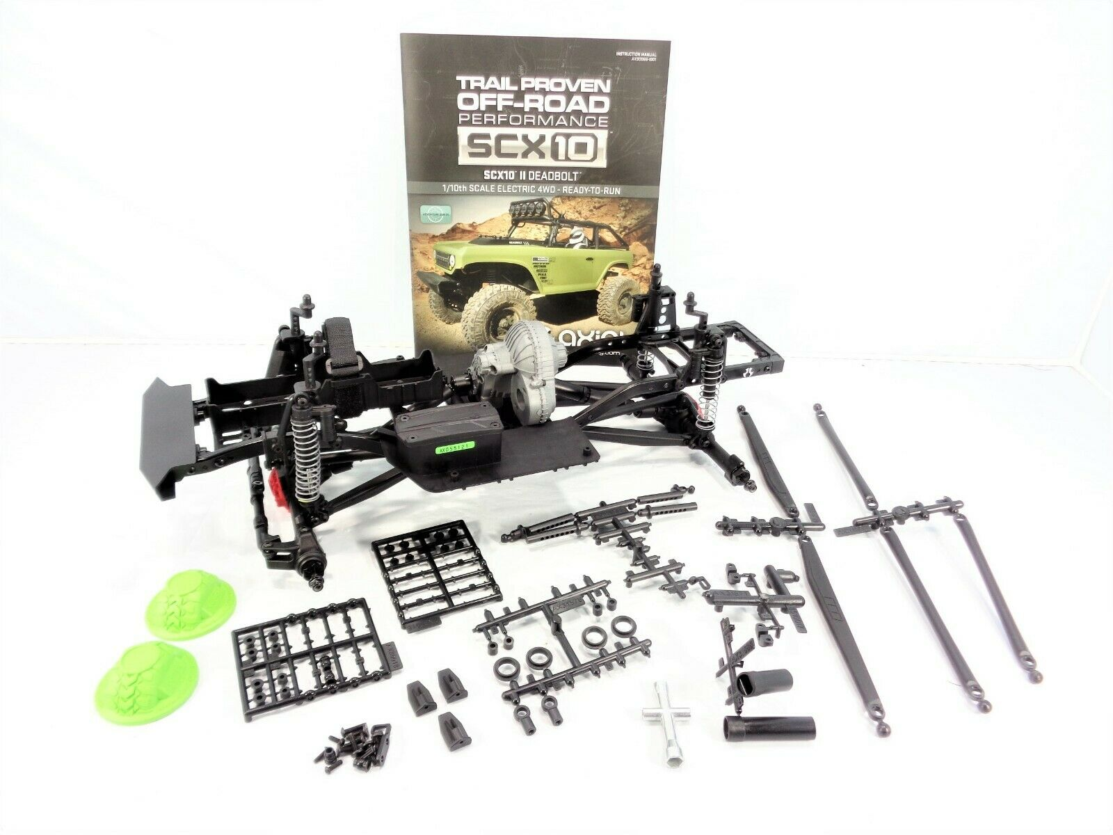 Axial SCX10 II Deadbolt  Crawler Chassis Set Axles Transmission Rolling Slider  negozio all'ingrosso