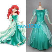 Adult The Little Mermaid Ariel Costume Princess Dress