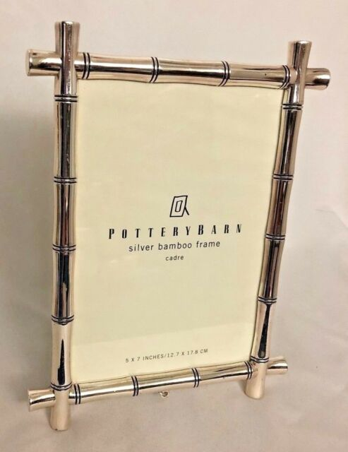 Pottery Barn Silvertone Metal 6 5x8 5 Quot Frame Holds 5x7