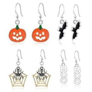 1-Pair-Halloween-Party-Pumpkin-Ghost-Ear-Stud-Dangle-Hoop-Earrings-Drop-Jew-T5O7