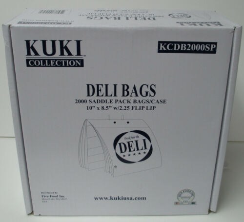"Kuki Collection Deli Bags 10/"" x 8.5/"" Flip Lip Saddle Bags Case of 2000"