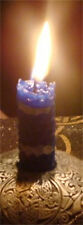 "Healing ""SPELL N BEE"" 3 day Bees Wax Vigil Candle, handrolled 3 inch candle"