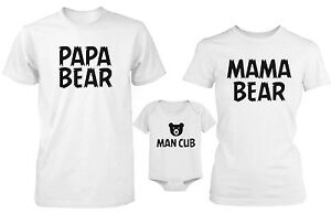 Details about Daddy Mommy and Baby Matching Bear Family T-Shirt and  Bodysuit - Family Shirts