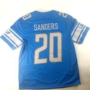sports shoes c6580 df222 Details about Barry Sanders Detroit Lions NFL Nike Football Jersey Vapor  Untouchable $150 Blue
