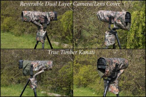 Reversible Waterproof Kanati Camo Camera//Lens Cover for Tamron 150-600 F//5-6.3
