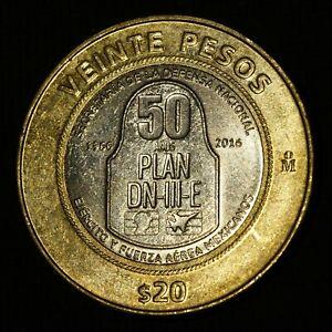 Mexico 2016 20 Pesos Plan DN-III-E Mexican Bimetallic Commemorative Coin #E4