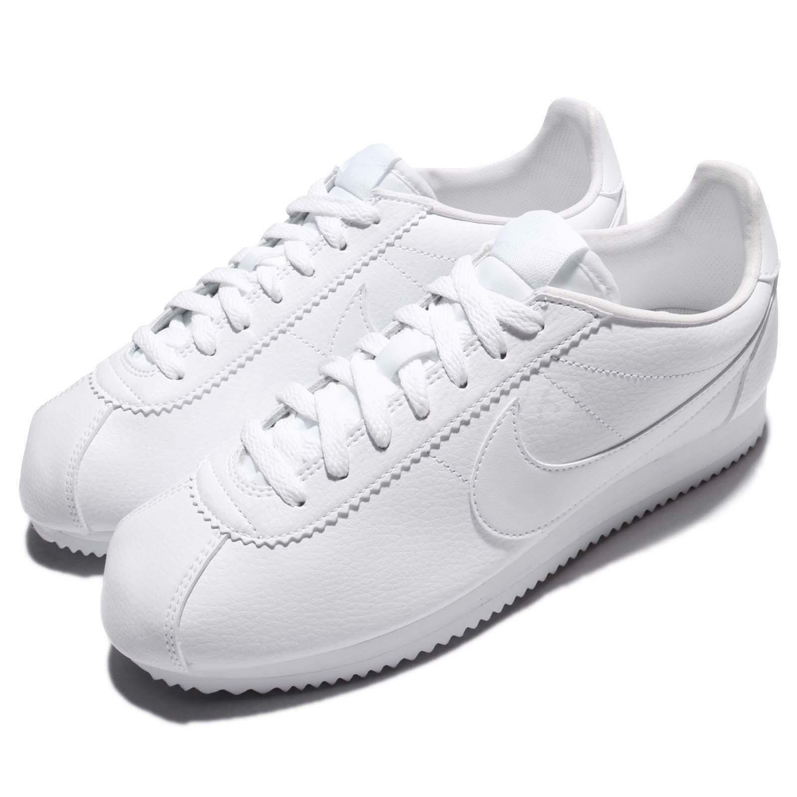 new arrival be451 95f58 Nike Classic Classic Classic Cortez Leather Triple White Men Running Shoes  Sneakers 749571-111 1fe606