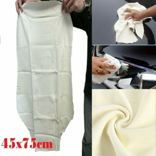 45x75cm Natural Leather Chamois Car Drying Clean Towel Absorbent Cloth
