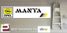 Opel Manta Workshop Banner, GTE etc Man Cave, Garage, Office