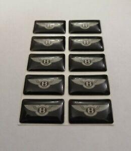 Insignia-Bentley-3D-abovedado-LOGO-Emblema-Pegatina-Grafico-Calcomania-continental-Bentayga