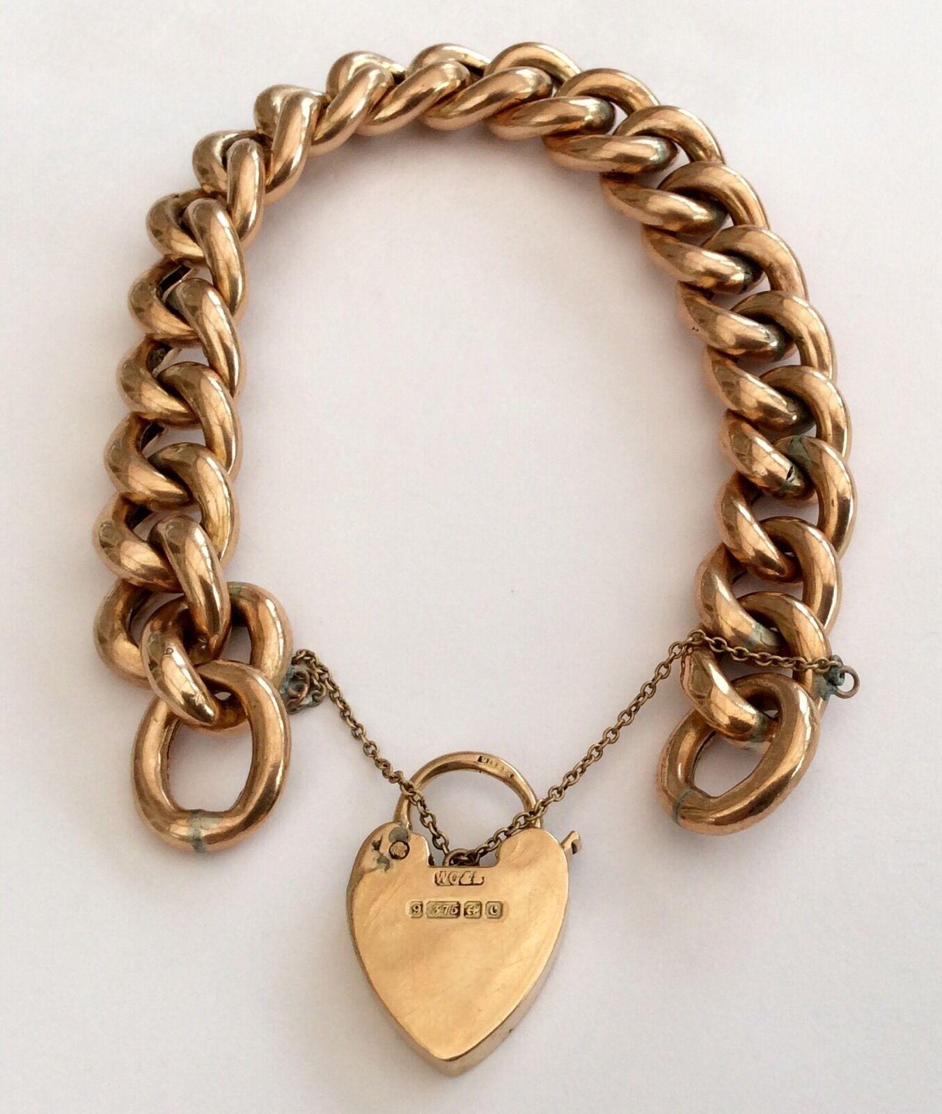 Donna Favoloso Antico Vittoriano cinturino in oro rosa rosa rosa 9ct & Lucchetto 24.7 GRAMMI abfed3