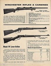 1977 WINCHESTER Model 70 Target RIFLE , 94 Regular and  Antique CARBINE AD
