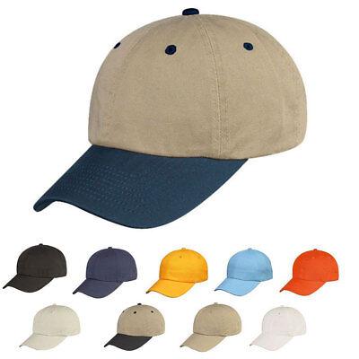 100% Cotone Lavato Basso Corona Aperti 6 Pannello Baseball Cappelli