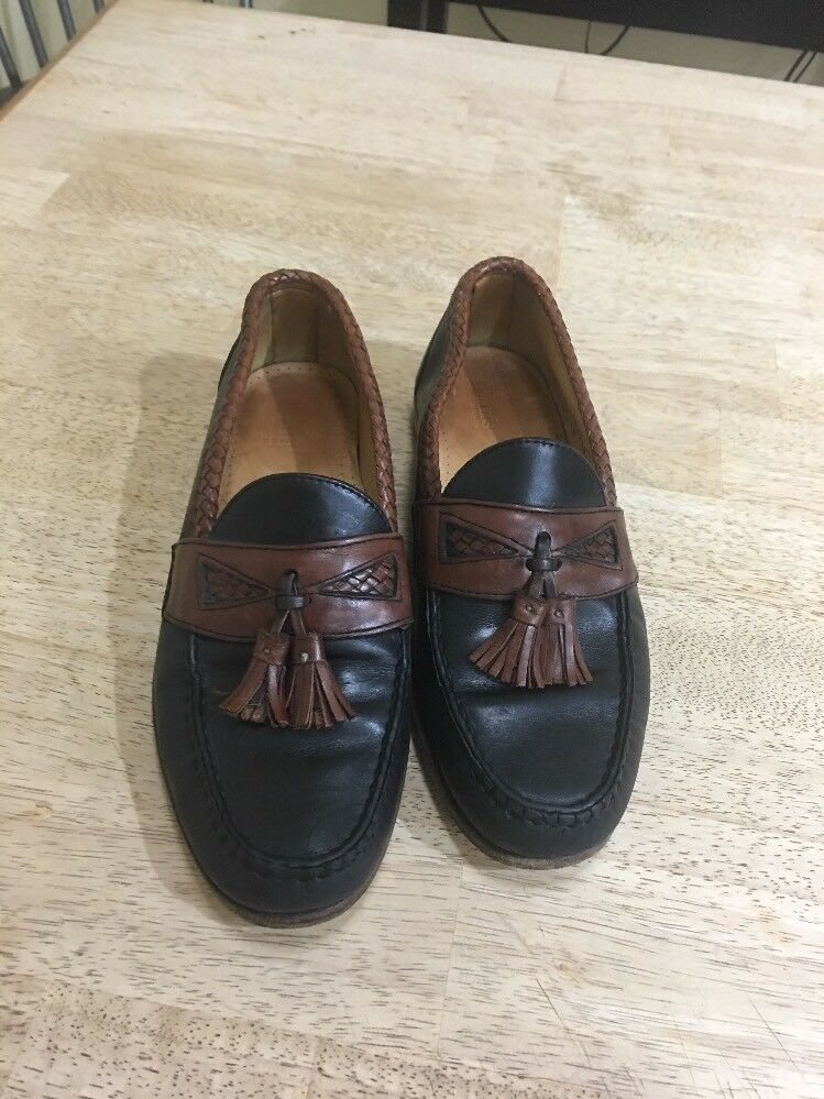Men's Allen Black/Brown Edmonds Maxfield Black/Brown Allen Loafers Size 9D 432043