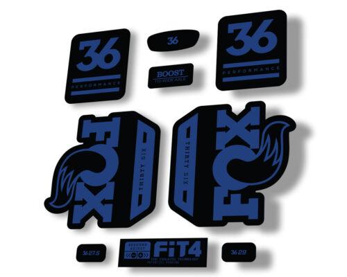 FOX 36 Float 2020 Performance Fork Suspension Factory Decal Sticker Dark Blue