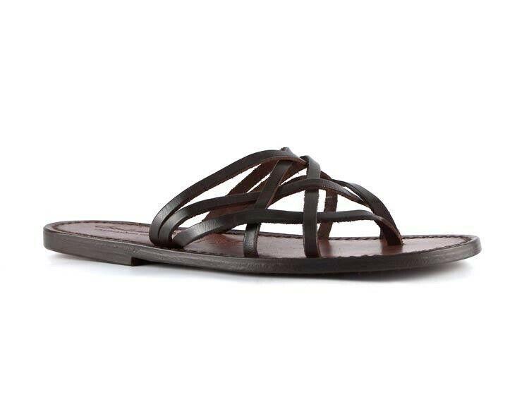 Giacche fatte a mano per donne, sandali, scarpe da  pantofola in pelle Marroneee  basta comprarlo